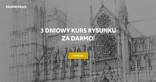 Darmowy kurs rysunku w Gdyni dla 17-18 latków!