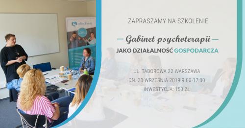 Gabinet psychoterapii jako działalność gospodarcza