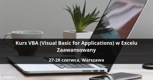 Kurs VBA w Excelu Zaawansowany - Warszawa