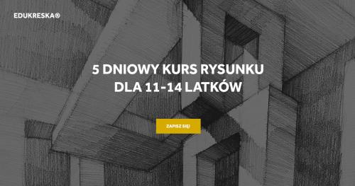 Wakacyjny kurs rysunku w Wejherowie dla 11-14 latków!