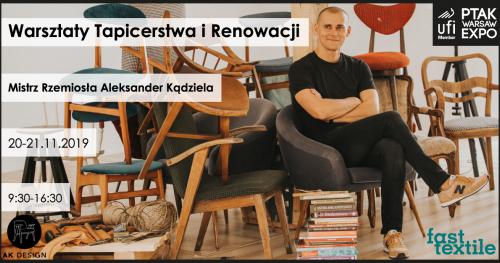 Warsztaty tapicerstwa i renowacji mebli z AKdesign 20XI