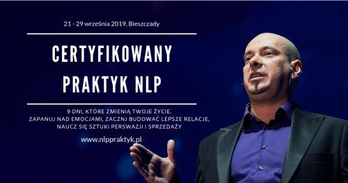 Certyfikowany Praktyk NLP Bieszczady, 23 września - 1 października 2019