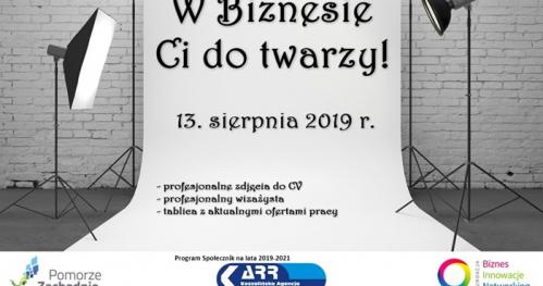 """W Biznesie Ci do twarzy - projekt współfinansowany ze środków Pomorza Zachodniego  w ramach programu Urzędu Marszałkowskiego """"Społecznik"""" na lata 2019 - 2021"""