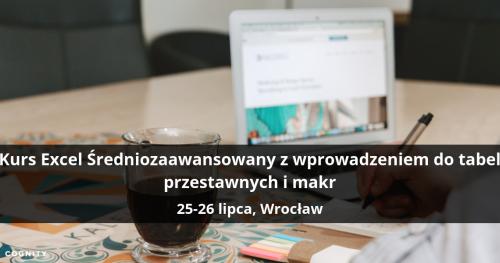 Kurs Excel Średniozaawansowany z wprowadzeniem do tabel przestawnych i makr - Wrocław