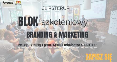 "ClipsterUP - Blok szkoleniowy II ""Branding & Marketing"""
