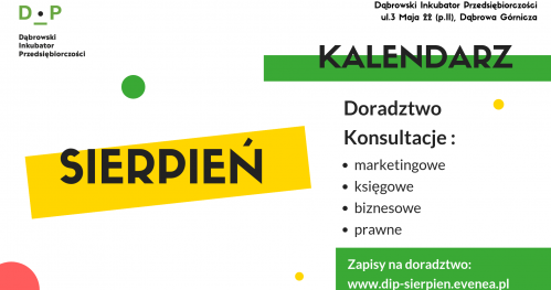 Darmowe Konsultacje Sierpień- Dąbrowski Inkubator Przedsiębiorczości