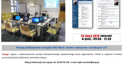 Stwórz atrakcyjne CV w MS Word - warsztaty