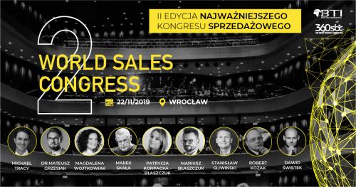 WORLD SALES CONGRESS 2019 - MAKSIMUM OSIĄGNIĘĆ W SPRZEDAŻY - WROCŁAW