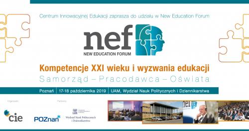 New Education Forum Poznań  Kompetencje XXI wieku i wyzwania edukacji.  Samorząd - Pracodawca - Oświata.