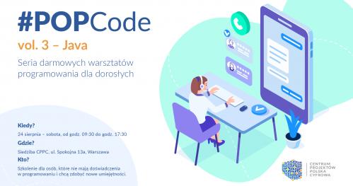 Zostań cyfrowym lingwistą z #POPCode - Java - Bezpłatne Warsztaty programowania