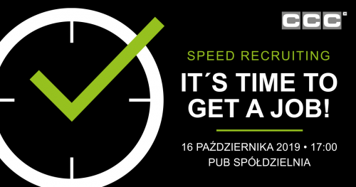 Speed Recruiting - It's time to get a job!