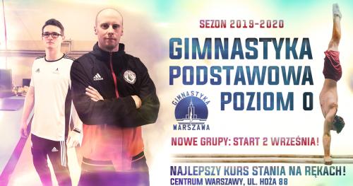 Gimnastyka Podstawowa Poziom  0 - Start nowych grup od października !