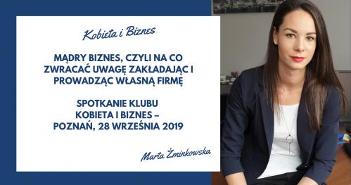 Spotkanie Klubu KOBIETA I BIZNES - Poznań, 28 września 2019