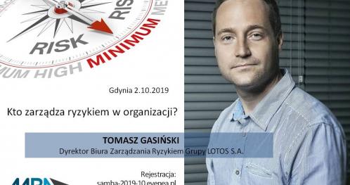 Kto zarządza ryzykiem w organizacji? - Gdynia 2.10.2019
