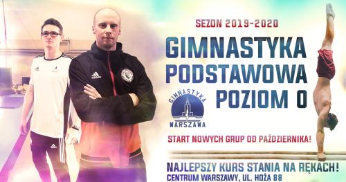 Gimnastyka Podstawowa Poziom  0 - Zapisy na październik