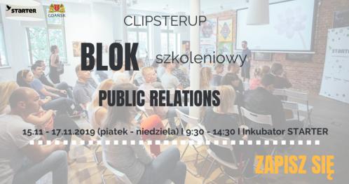 """ClipsterUP - Blok szkoleniowy I """"PR"""""""