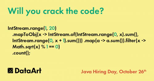 Java Hiring Day: «Will you crack the code?»