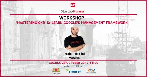 Workshop 'Mastering OKRs: Learn Google's management framework' - Startup Hansa