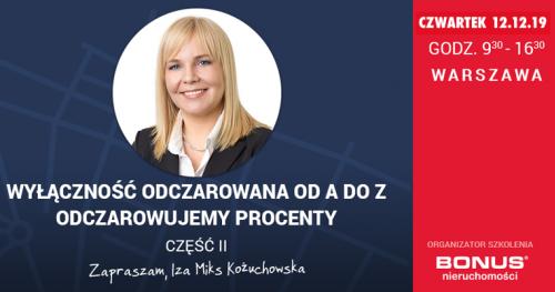 LEVEL UP POZIOM 2 Warszawa WYŁĄCZNOŚĆ Iza MIKS Odczarowujemy % Pośrednik Agent Nieruchomości edycja 11