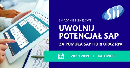 Uwolnij potencjał SAP za pomocą SAP Fiori oraz RPA - śniadanie biznesowe