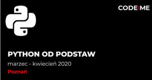 CODE:ME | Python od podstaw (marzec - kwiecień ) || Poznań