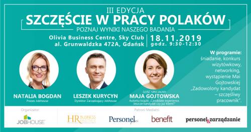 Szczęście w Pracy Polaków - spotkanie wokół wyników badania