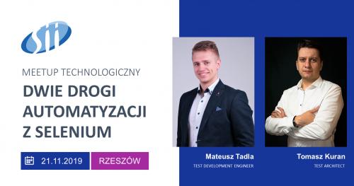 Meetup technologiczny: Dwie drogi automatyzacji z Selenium