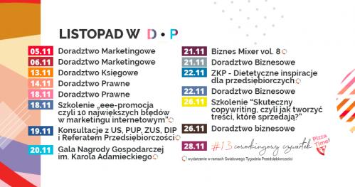 Darmowe Konsultacje Listopad 2019 - Dąbrowski Inkubator Przedsiębiorczości