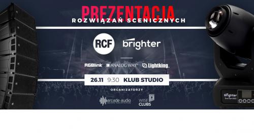 PREZENTACJA ROZWIĄZAŃ SCENICZNYCH - RCF BRIGHTER