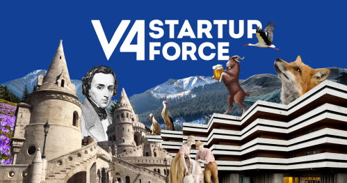 V4 startup force. Corporate-Startup = win-win partnerships