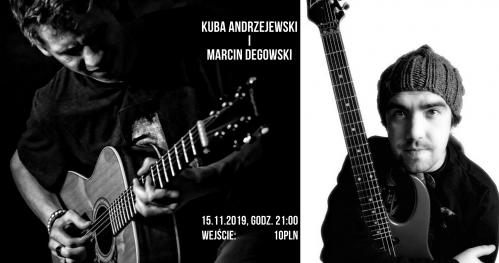 Kuba Andrzejewski i Marcin Degowski w Basement Wine & Beer
