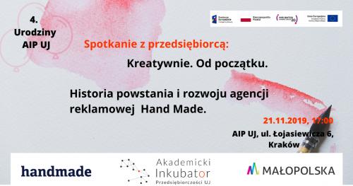 Kreatywnie. Od początku. Historia powstania i rozwoju agencji reklamowej Hand Made.