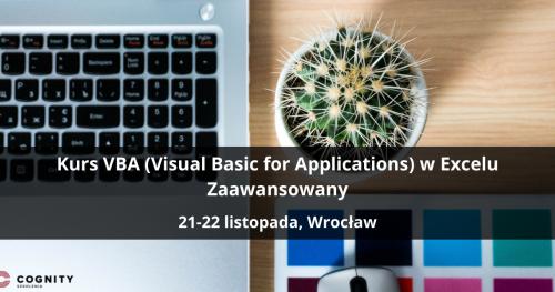 Kurs VBA w Excelu Zaawansowany - Wrocław