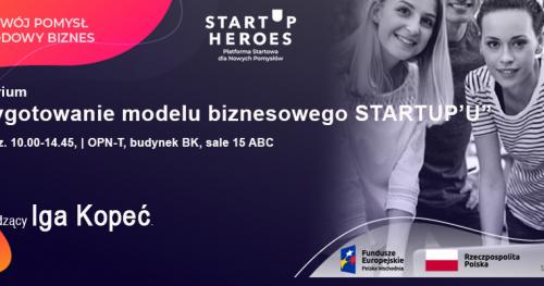 Przygotowanie modelu biznesowego STARTUP'U