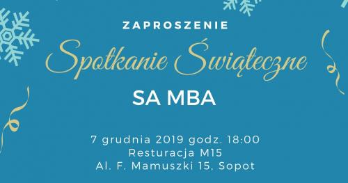 Spotkanie Świąteczne SA MBA