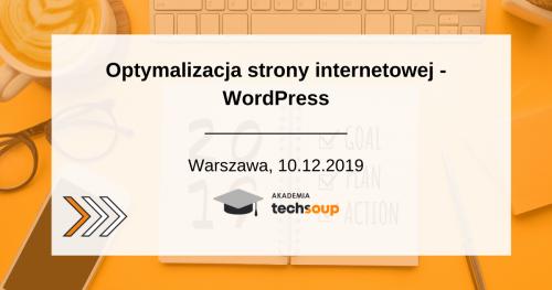 Optymalizacja strony internetowej - WordPress