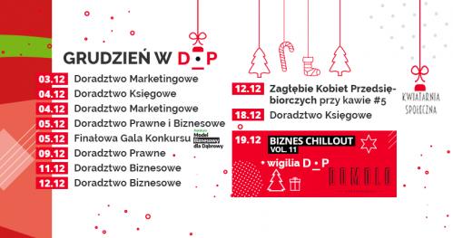 Darmowe Konsultacje Grudzień 2019 - Dąbrowski Inkubator Przedsiębiorczości