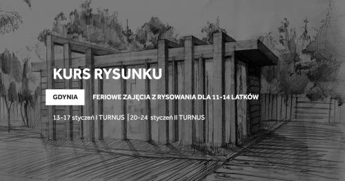 Zimowy kurs rysunku w Gdyni dla 11-14 latków!