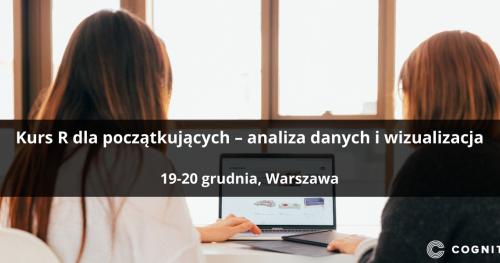 Kurs R dla początkujących - analiza danych i wizualizacja - Warszawa