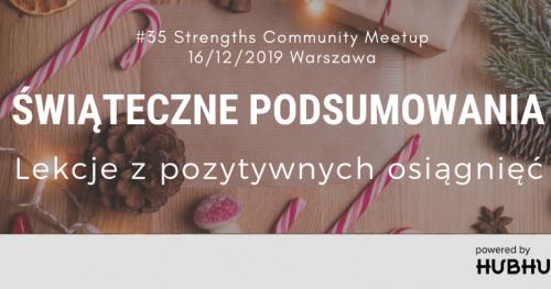 Talenty Gallupa - Strengths Community Meetup #35 | ŚWIĄTECZNE PODSUMOWANIA