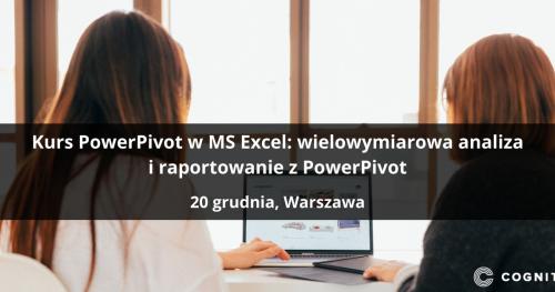 Kurs PowerPivot w MS Excel: wielowymiarowa analiza i raportowanie z PowerPivot - Warszawa
