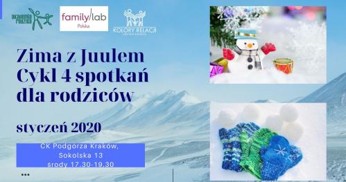 Zima z Juulem cykl 4 spotkań dla rodziców w duchu Familylab Kraków