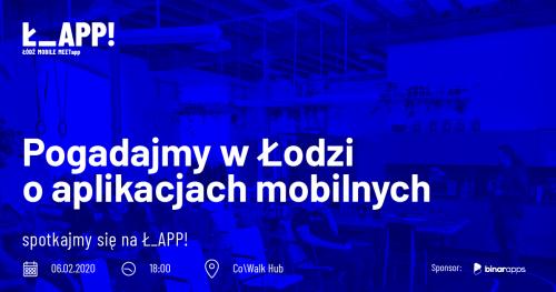 #2 Ł_APP! mobile meetup