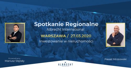 Warszawa - spotkanie regionalne / inwestowanie w nieruchomości