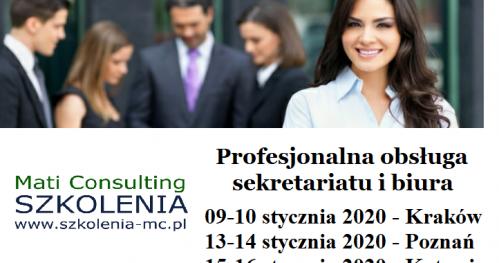 OBSŁUGA SEKRETARIATU I BIURA   (17-18 stycznia 2020r.)  RZESZÓW