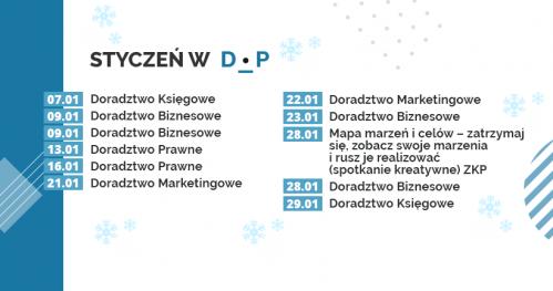 Darmowe Konsultacje Styczeń 2020 - Dąbrowski Inkubator Przedsiębiorczości