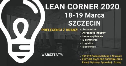 Konferencja Lean Corner 18-19 Marca 2020  Szczecin