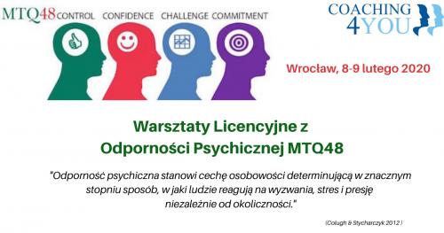 Warsztaty Licencyjne z Odporności Psychicznej MTQ48