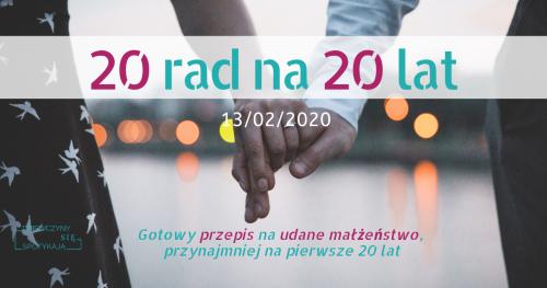 20 rad na 20 lat - spotkanie dla małżeństw i narzeczonych