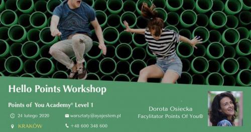 Points of You® Academy - Hello Points Workshop, NOWY SĄCZ 29.II.2020